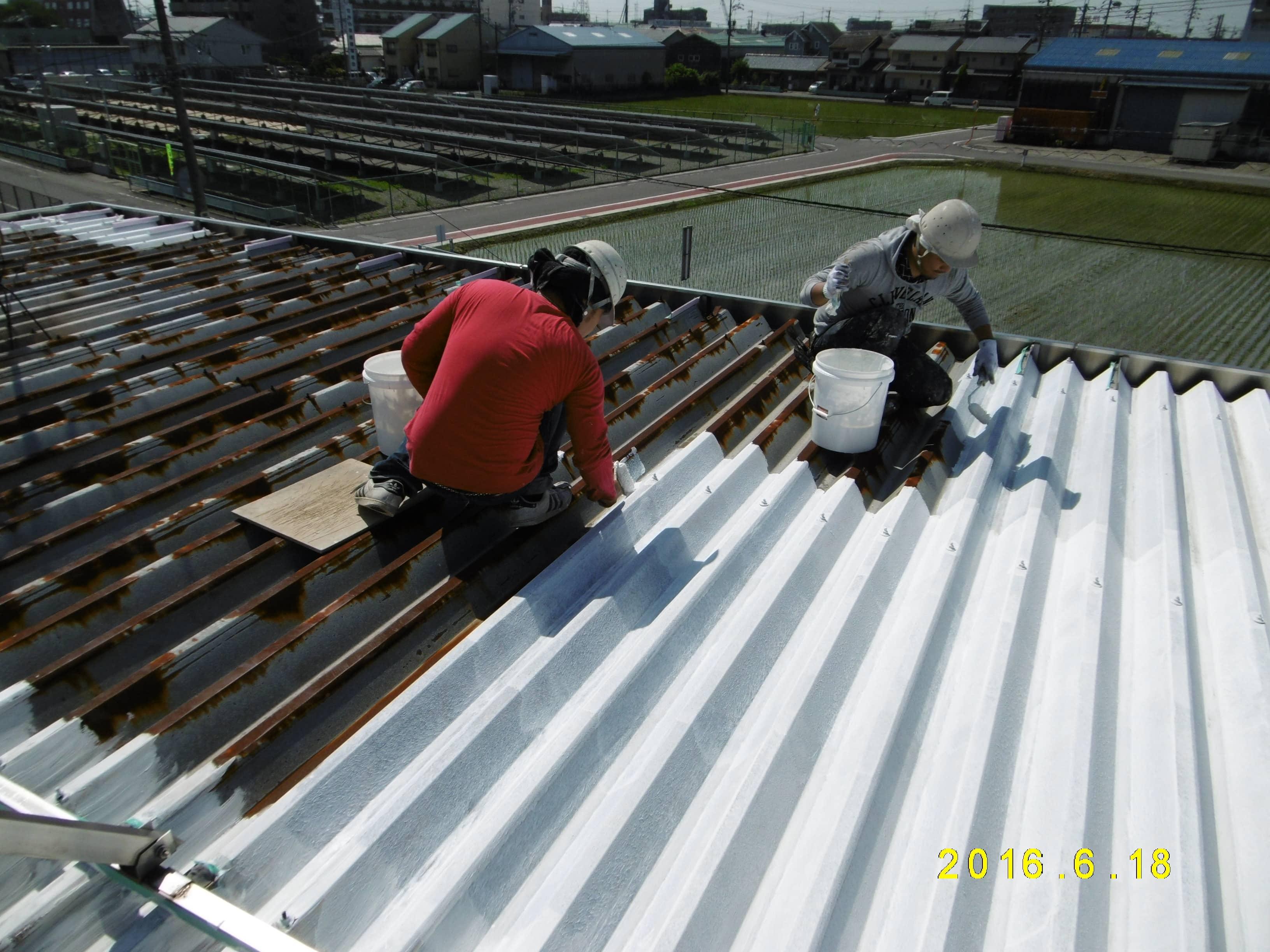 岐阜県瑞穂市H様 折半屋根エコヌリ塗装工事